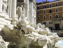 Trevi Fountain Rome Italy. View of Trevi Fountain in Rome Italy Stock Image