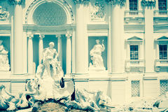 Trevi fountain rome Stock Photo