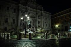 Trevi fountain at night, Rome, Italy. royalty free stock image