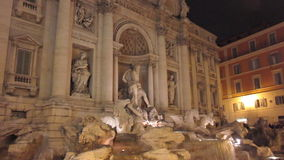 Trevi Fountain in Rome stock video footage