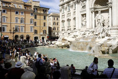 Trevi fountain in Rome Stock Images