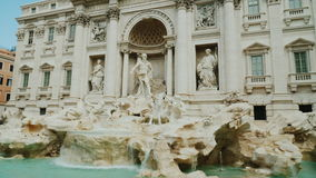 Trevi Fountain in Rome. Popular place among tourists from all over the world. 4K 10 bit video. The famous Trevi Fountain in Rome. Popular place among tourists stock video footage