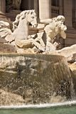 Trevi Fountain in Rome with the sculpture of Neptune stock photo