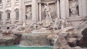 Trevi fountain in Rome. Side view of Trevi fountain in Rome stock footage