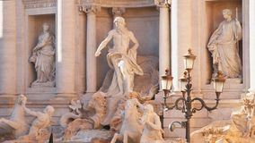 Trevi Fountain Rome. Trevi Fountain - Rome`s largest fountain stock video