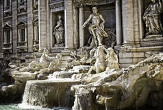 The Trevi Fountain In Rome Royalty Free Stock Photography