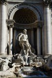Trevi Fountain sculptures. Details of one of the major landmarks in Rome, Italy Stock Image