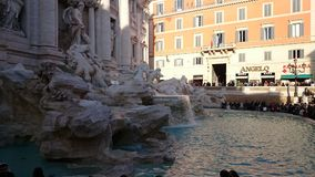 Trevi fountain from the side royalty free stock photos