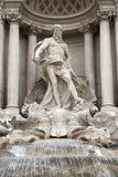 Trevi Fountain, statue of Oceanus Royalty Free Stock Photography