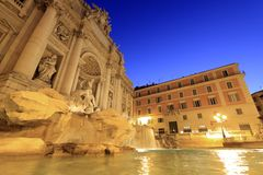 Trevi Fountain at Sunrise Royalty Free Stock Images
