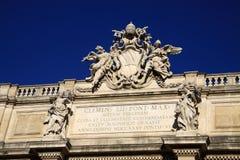Trevi Fountain Trevi coat of arms, Rome, Italy Stock Photo
