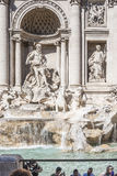 Trevi Fountain at the  Trevi district Royalty Free Stock Photos
