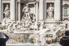 Trevi Fountain at the Trevi district Royalty Free Stock Image