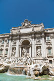 Trevi Fountain Under Blue Skies Stock Photos