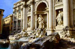 Trevi Fountain. Wish pond in Rome. Royalty Free Stock Image