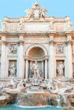 The Trevi fountains in Rome, Italy. The ancient Trevi fountains in Rome, Italy.The fountain at the junction of three roads (tre vie), marks the terminal point Stock Photos