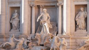 trevi rome фонтана сток-видео