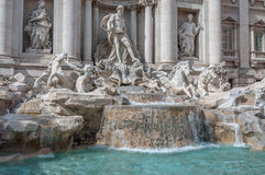 Trevi's Fountain. In rome italy Royalty Free Stock Images