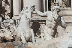 Trevi's Fountain Statue Detail Royalty Free Stock Images