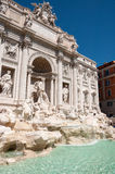 Trevi's Fountain. View of the most famous fountain with water games Royalty Free Stock Photos