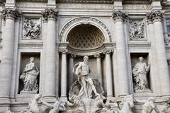 Trevi-springbrunn Fontana di Trevi Arkivfoton