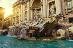 Trevi-springbrunn (Fontana di Trevi) i Rome arkivbild