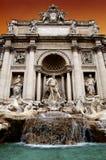 Trevi-springbrunn i Rome Arkivbilder