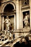 Trevi-springbrunn i Rome Royaltyfria Foton