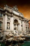 Trevi-springbrunn i Rome Royaltyfria Bilder