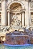 Trevi-springbrunn. Rome Italien. Arkivbild