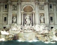 Trevi-springbrunn, Rome, Italien. Royaltyfri Fotografi