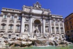 Trevi-springbrunn, Rome, Italien Royaltyfria Bilder