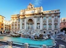 Trevi-springbrunn, rome, Italien. Arkivbild