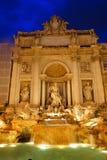 Trevi-springbrunnen i Rome Fotografering för Bildbyråer