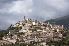 Trevi town, Italy Stock Photo