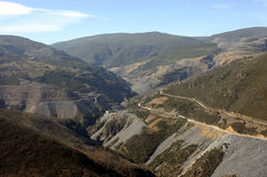 Trevinca mines. Slate quarries in Galicia, Spain Stock Image