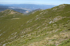 Trevinca slopes. Pena Trevinca, Mountains in Northwest of Iberian Stock Images