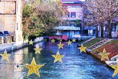Treviso city and Sile river Stock Images