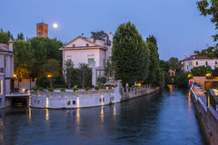 Beautiful evening in Treviso, Italy stock image