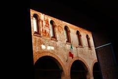 Treviso detalj av historisk byggnad, i staden andas luften av historia, dig omges ofta av hundraårsdagbyggnader royaltyfri bild