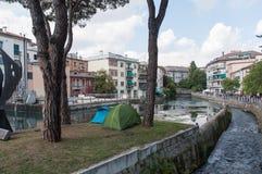 TREVISO, ITALIA - 13 DE MAYO: asamblea nacional de las tropas alpinas de los veteranos italianos Fotografía de archivo