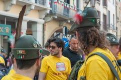 TREVISO, ITALIA - 13 DE MAYO: asamblea nacional de las tropas alpinas de los veteranos italianos Fotos de archivo libres de regalías