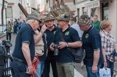 TREVISO, ITALIA - 13 DE MAYO: asamblea nacional de las tropas alpinas de los veteranos italianos Imágenes de archivo libres de regalías
