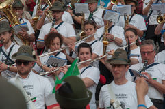 TREVISO, ITALIEN - 13. MAI: Nationalversammlung der alpinen Truppen der italienischen Veterane Lizenzfreie Stockfotos