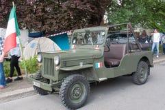 TREVISO ITALIEN - MAJ 13: nationalförsamling av de alpina soldaterna för italienska veteran Royaltyfria Bilder