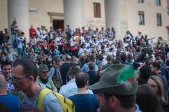 TREVISO ITALIEN - MAJ 13: nationalförsamling av de alpina soldaterna för italienska veteran arkivfoton