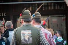 TREVISO, ITALY - MAY 13:  national assembly of the italian veterans alpine troops Royalty Free Stock Photo