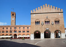 Treviso in Italy / view of the old sqare. View of the Treviso, historical Italian city Stock Photo