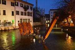 Treviso by night Royalty Free Stock Photos