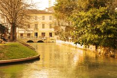 Treviso and river Stock Photo